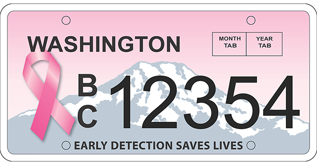 Washington's First Breast Cancer Awareness License Plates Debut